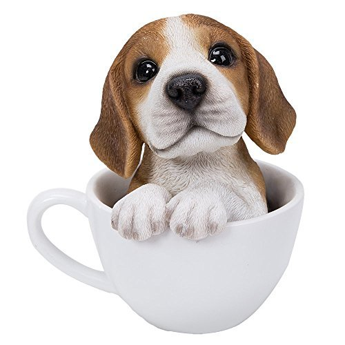 Pacific Giftware Adorable Teacup Pet Pals Puppy Collectible Figurine 5.75 Inches (Beagle)