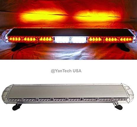 Amazon 44 72 led amber light bar emergency beacon warn tow 44quot 72 led amber light bar emergency beacon warn tow truck plow wrecker strobe aloadofball Images