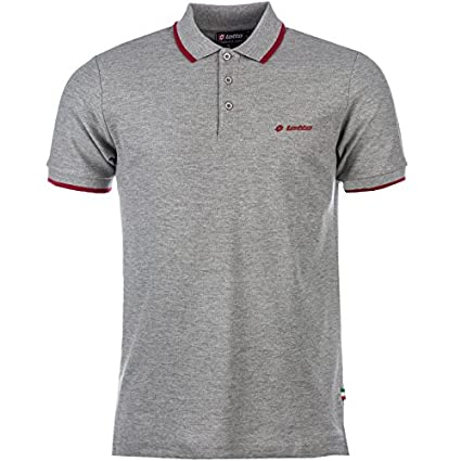 Lotto – Polo de manga corta para camiseta Top Retro Vintage Golf Classic marca moda,