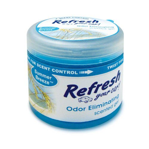 Refresh Your Car 4.5 oz Scented Gel Car and Home Air Freshener - Summer Breeze Scent