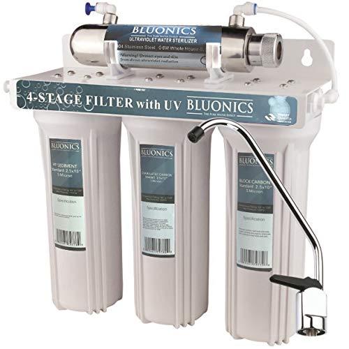 Bluonics UV Sterilizer Drinking Water Filter System Ultraviolet Light Under Sink Purifier