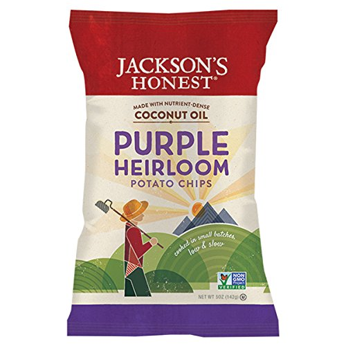 Jackson's Honest Purple Heirloom Potato Chips, 5 Ounce (Pack of 12)