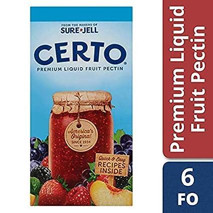 Sure Jell Certo Pectina de frutas (cajas de 1.75 onzas ...