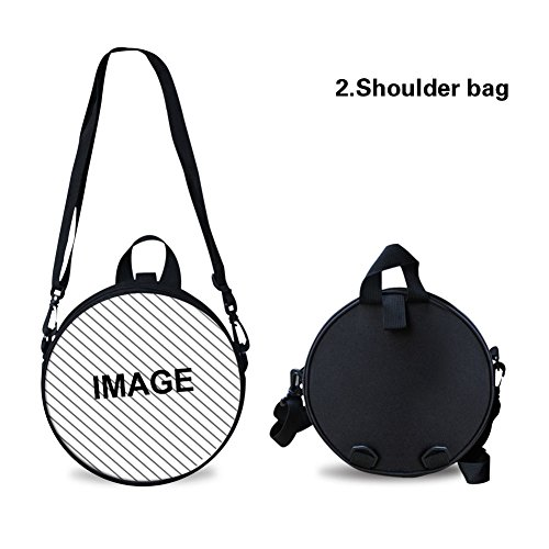 FancyPrint Bag Round Bag Print Round for Cute Shoulder Nyec0274i Women qwqSPH6f