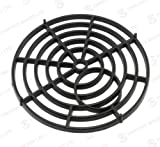 ROUND 6' 15cm PLASTIC BLACK DRAIN COVER / GULLEY GRID / DRAINAGE GRILLE GULLY