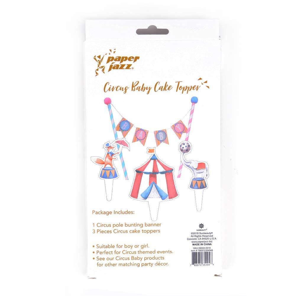 Kuchendeko Easy Joy Torte Dekoration Set Zirkus Kuchen Girlande Babyshower Taufe Dekor Tier Geburtstag
