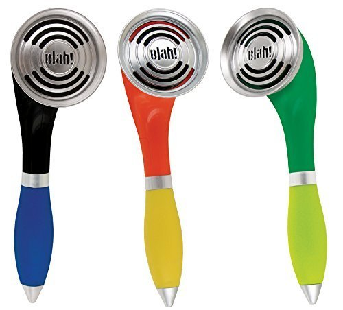 Blue and Black Pack of 3 Talking Pens 3pc I Said No Pen in Red