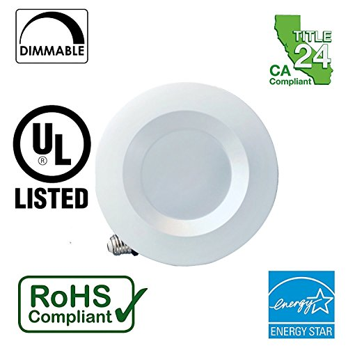 5-6-Dimmable-LED-Downlight-Smooth-Trim-Recessed-Retrofit-Lighting-Trim-15W-120W-Replacement-ENERGY-STAR-UL-Listed