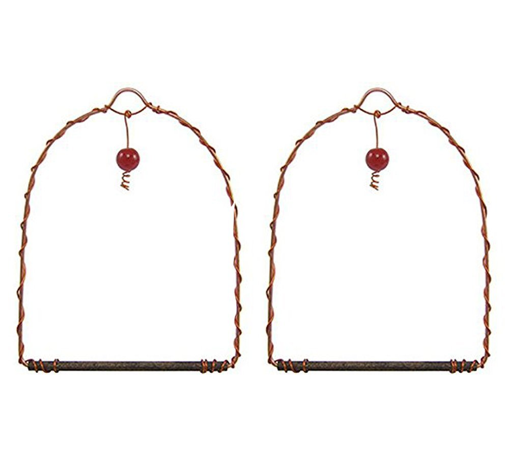 Songbird Essentials SEHHHUMS Copper Hummingbird Swings set of 2