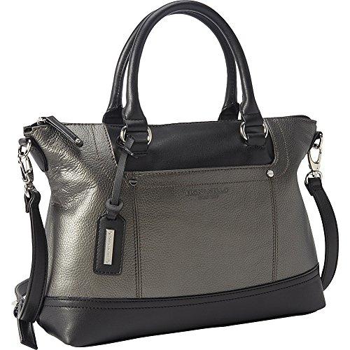 372d24db7038 Tignanello Smooth Operator Convertible Satchel (Eggshell Black)  Amazon.in   Shoes   Handbags