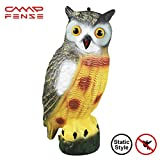 CampFENSE Owl Bird Repellent Scarecrow Decoy Rotary style or Static Style Waterproof Effective Pets Repellent Garden Protector Scare Away Bird, Squirrel, Rabbits and Other Pets (Static Style)