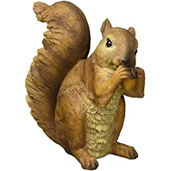 Design Toscano Woodland Squirrels Chomper and Scamper Garden Statues, 7 Inch, Set of Two, Polyresin, Full Color