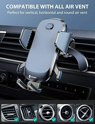 2020 Upgraded Auto Clamp Phone Holder for Car, VICSEED Phone Car Holder Ultra Stable Car Phone Mount Strong Grip Air Vent Car Phone Holder Case Friendly Compatible with iPhone and All Other Smartphone 51G 2BZ 2BUWn7L