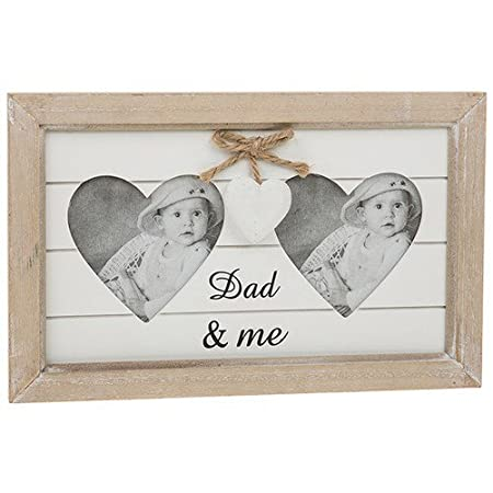 Dad and Me Shabby ChicProvence Range Heart Photo Frame Fathers Day ...