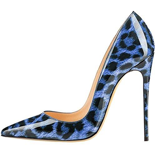 Blueleopard Pumps Stiletto Shoes Platform Wedding Women's Dress toe High AIWEIYi Party Heels Pointy F7qBn6w