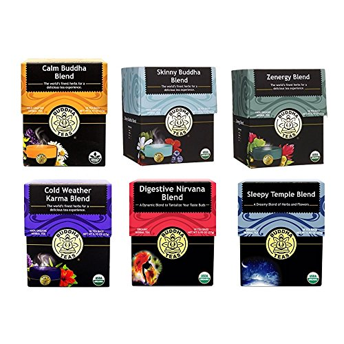 Buddha Teas Best Sellers Variety Pack | 6 Different Flavors