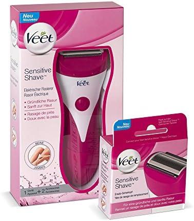 VEET Sensitive Shave Maquinilla de Afeitar + Después de pluma ...