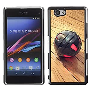 LECELL -- Funda protectora / Cubierta / Piel For Sony Xperia Z1 Compact D5503 -- Metal Sphere --