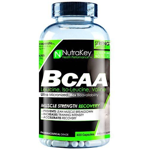 NutraKey BCAA Capsules, 400 Count