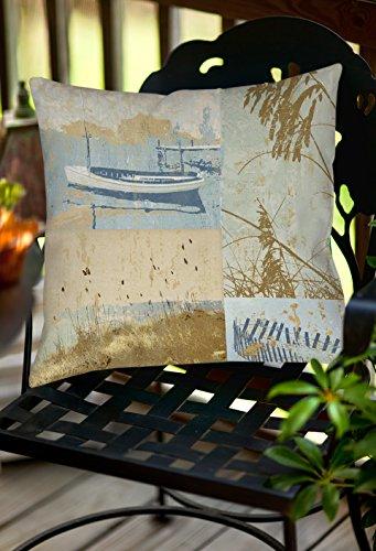 Thumbprintz Square Indoor/Outdoor Pillow, 16-Inch, Coastal Moments