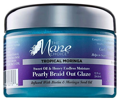 THE MANE CHOICE Tropical Moringa Braid-Out Glaze, 12 Oz