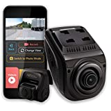 Rexing V1P 3rd Generation Dual 1080p Full HD Front and Rear 170 Degree Wide Angle Wi-Fi Car Dash Cam with Supercapacitor, 2.4' LCD Screen, G-Sensor, Loop Recording, Mobile App