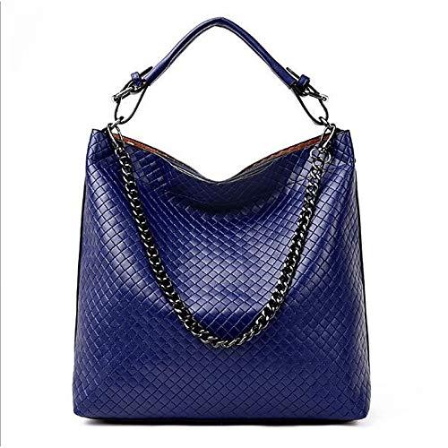 Tote à Women's Red sac Bags Capacité À Gold Bleu QZTG Main Tout Black Zipper Grande PU main Fourre De Sacs Y5Ffgq