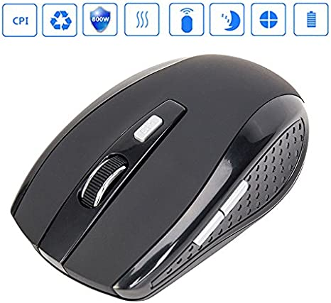 Alician 2.4GHZ Portable Wireless Mouse Cordless Optical Scroll Mouse for PC Laptop red Electronic Accessories