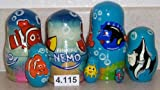 : Finding Nemo * Russian Nesting doll 5 pc / 4 in * 4.115