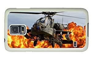 Hipster free shipping Samsung Galaxy S5 Case ah 64d apache army helicopter PC White for Samsung S5