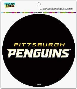 Graphics and More NHL Pittsburgh Penguins Logo Automotive Car Refrigerator Locker Vinyl Circle Magnet