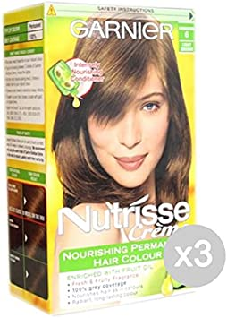 Set 3 NUTRISSE 6 Rubio Oscuro - Color Canela Y Tintes: Amazon ...