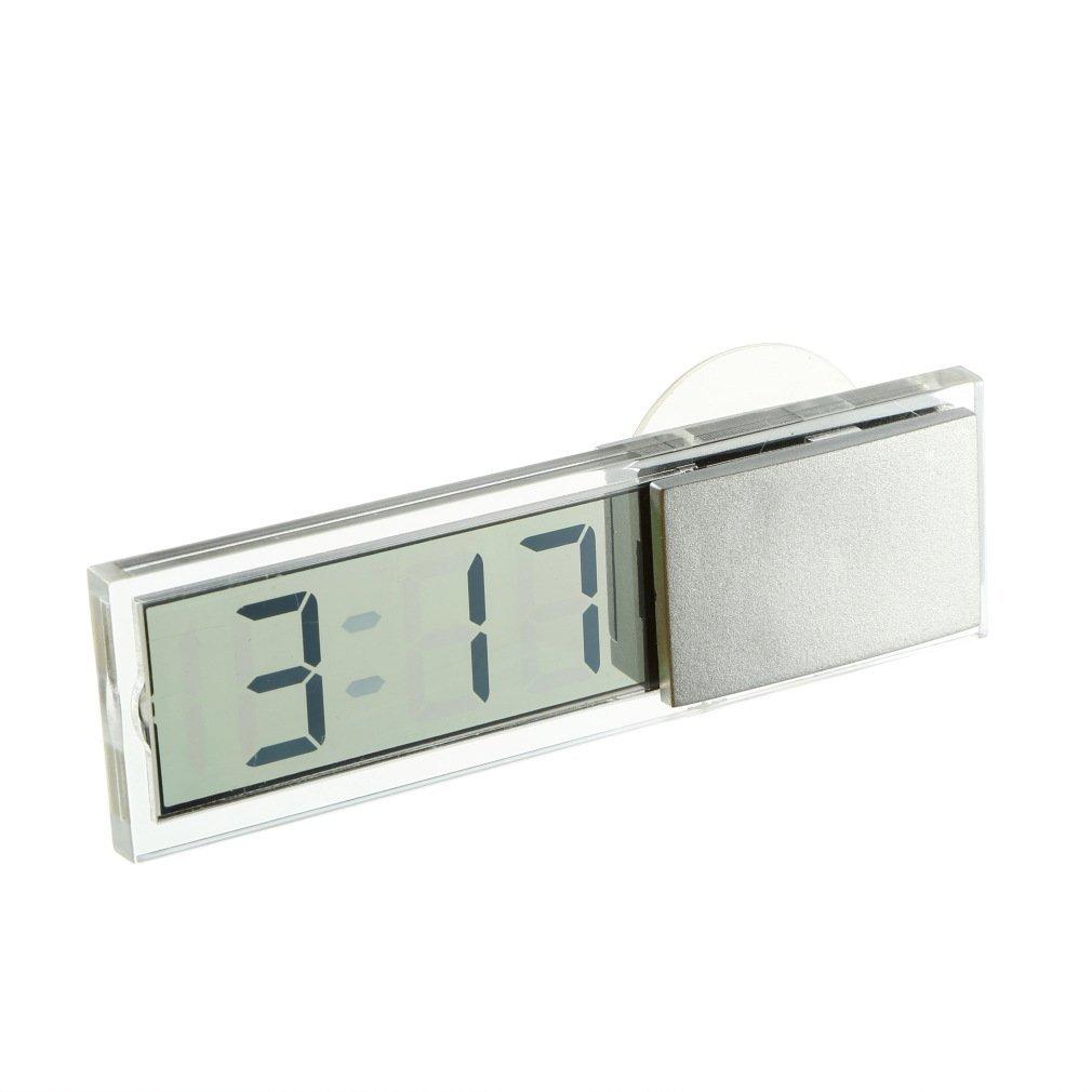 SODIAL R 7310 Mini Horloge Lcd Electronique De Voiture Avec La Ventouse