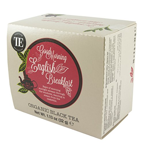 TE - Teahouse Exclusives Organic Tea Good Morning English Breakfast 16 Beutel, 2er Pack (2 x 32 g)