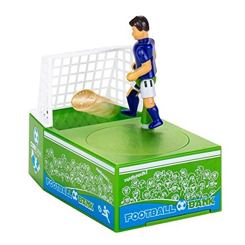 SODIAL Novelty gift cartoon football savings pot electric piggy bank Soccer Player Goal Kicking Coin Bank Football Piggy Bank Money Box 147494