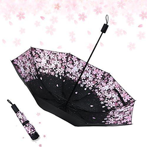 SSBY Sun And Summer Sun Umbrella Anti Ultraviolet Black Offset Flower Clear Umbrella Folding Umbrella