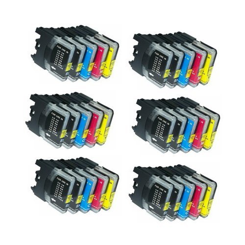 - Inkcool 30Pack (12B/6C/6M/6Y) Non-OEM Inkjet Cartridges for LC61 Hi-Yield (15.6 mL each) Brother DCP 165C MFC 250C 255CW 290C 295CN 385CW 490CW 585CW 790CW 5490CW 5890CW 6490CW