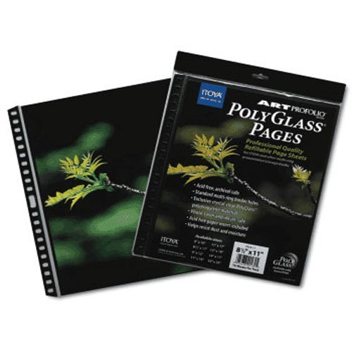 ProFolio by Itoya, Art ProFolio PolyGlass, 10-Pack Multi-Ring Binder Refill Pages - Portrait, 13 x 19 Inches