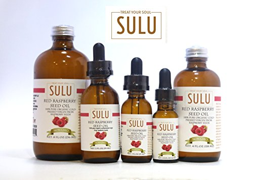100 Pure Organic Extra Virgin Red Raspberry Seed Oil 8 oz