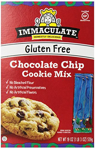 Immaculate Baking Company, Gluten Free Chocolate Chip Cookie Mix, 19 oz (Pack of 6)