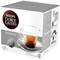 NESCAFÉ Dolce Gusto Espresso Barista | 48 Kaffeekapseln | Kräftiger Espresso | Robusta und Arabica Bohnen | dunkle Röstung| Dichte Crema | Aromaversiegelte Kapseln | 3er Pack (3 x 16 Kapseln)