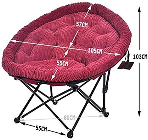 Sun Lounger barnstolar hopfällbar fåtölj matstol måne stol lat soffa ryggstöd rund stol manchester bärbar 7 färger xiuyun (färg: C)