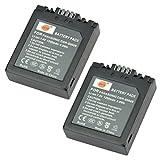 DSTE 2x CGR-S002 CGR-S002E Replacement Li-ion Battery for Panasonic Lumix DMC-FZ1 FZ2 FZ3 FZ4 FZ5 FZ10 FZ15 FZ20 Camera as CGA-S002 DMW-BM7