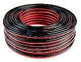 100' Feet 14 Gauge Red Black Stranded 2 Conductor Speaker Wire Car Home Audio Ga