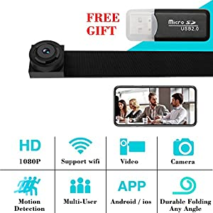 WIFI Hidden Spy Camera, 1080P Spy Mini Camera Nanny Cam Home Security Covert Camera with Motion Detection