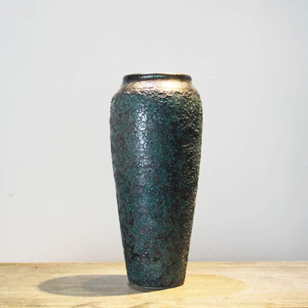 手作りのセラミック花瓶装飾リビングルーム乾燥花瓶装飾/グリーン SHWSM (サイズ さいず : 16cm×35cm) B07RW95JP4  16cm×35cm