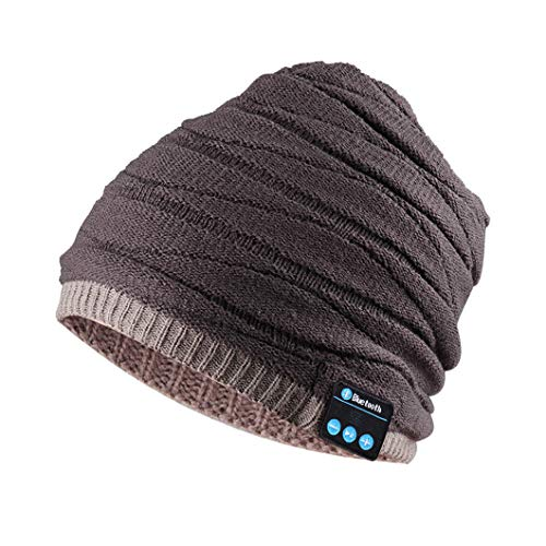 (Bluetooth Headphones Hat Slouchy Beanie Music Earbuds with Microphone Speaker Hands Free)