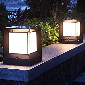Lámpara solar para jardín al aire libre, impermeable, para jardín, terraza, puerta, Stigma: Amazon.es: Iluminación
