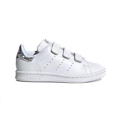 the latest a55c9 80de0 adidas Originals Kids' Stan Smith Cloudfoam Sneaker