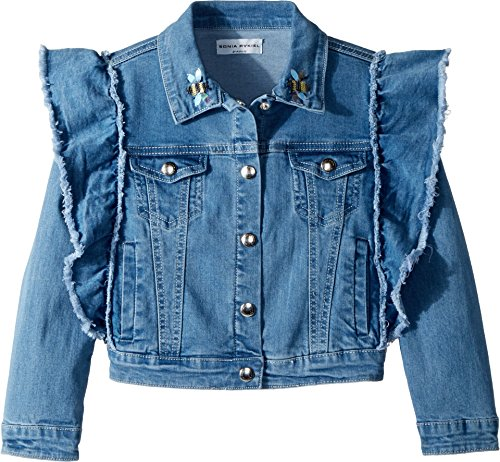 Sonia Rykiel Kids Girl's Anny Denim Jacket (Little Kids/Big Kids) Light Blue 6 Years by Sonia Rykiel Kids